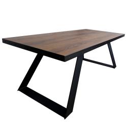 Stół ultratwarde HDF z metalowym obrzeżem