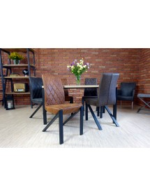 krzesło GUSTAWO tapicerka skórzana